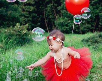 Red Tutu, Cake Smash Outfit Girl Tutu, First Birthday Outfit Girl Tutu, 1st Birthday Outfit Tutu, 1st Birthday Tutu, First Birthday Tutu