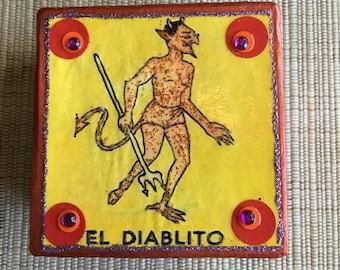 Loteria El Diablito Devil Decoupage Gift Box