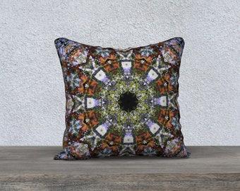 Boho Mandala Throw Pillow Cover Colourful Kaleidoscope