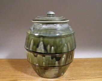 Lidded Jar , Ceramic Jar , Pottery Canister , Cookie Jar , Urn , Handmade Jar , Pet Urn , Jon Whitney Pottery