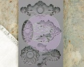 Beautiful Baroque Mould by IOD - Iron Orchid Designs for Embellishing Home Decor, Furniture, Crafts, Food Safe.