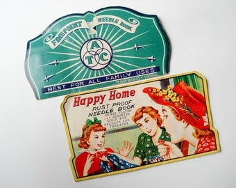Vintage needle books - Happy Home and Finepoint