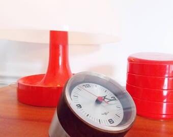 Arthur Umanoff Desk Clock for Howard Miller /George Nelson & Associates/ 1960s table clock/ Mid Century clock