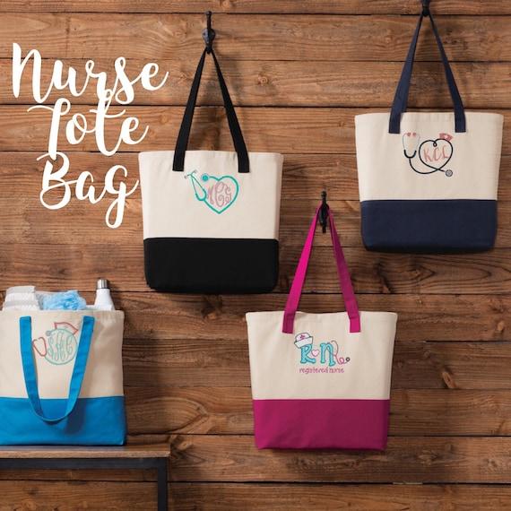 Nurses gift nurse tote bag RN gift nurse christmas gift