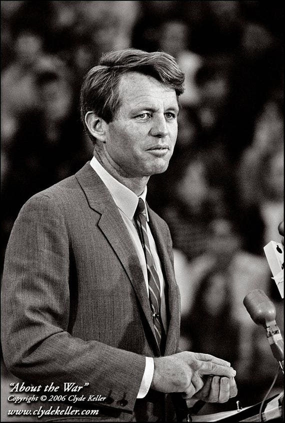 ABOUT THE WAR, Robert F. Kennedy, Clyde Keller 1968 Photo