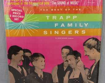 """The Best of the Trapp Family Singers Record Vintage 12"""" Vinyl LP Album Double Records 32 Songs"""