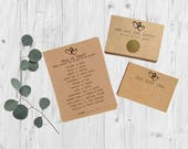Bridal Shower Games Package - Set of 3 Games - Rustic Bridal Shower - Hearts - Scratch Off Game & Advice Card Set - Country Bridal Shower