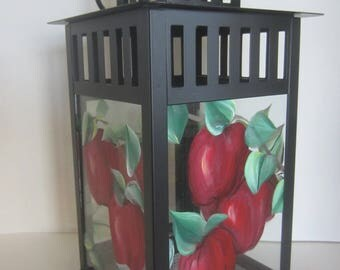 Apples, Apples and More Apples on a Black or White Metal Lantern