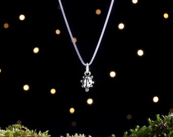Sterling Silver Tiny Ladybug - Gardener Gift - (Charm, Necklace, or Earrings)