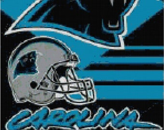 NFL Carolina Panthers Banner Counted Cross Stitch Pattern