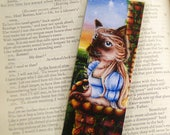 Siamese Cat Bookmark, Romeo and Juliet Shakespeare Fantasy Cat Art Bookmark