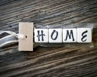 HOME Tumbled Stone miniMagnet Word Strip