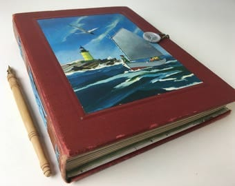 Northwest Travel Journal, sketchbook with multimedia cotton and fine art papers, Boat Log Book, Sailor's Journal