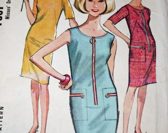 """Vintage 1960s Sewing Pattern, McCall's 7867, Misses' Dress, Misses' Size 14, Bust 34"""""""