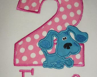 Blues Clues Applique Birthday Shirt