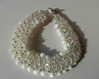 Russian spiral beaded bracelet