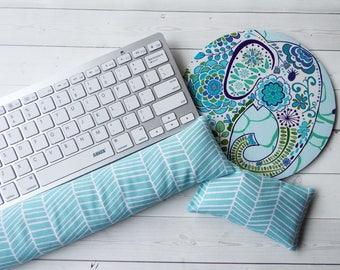 Elephant Mouse Pad Set   Mouse Wrist Rest   Keyboard Rest   Coworker Gift,  Teacher
