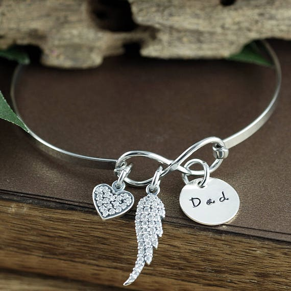 Loss of Parent Bracelet, Bereavement Gift, Memorial Miscarriage Bracelet, Personalized Charm Bracelet, Remembrance Bracelet, Loss of Child