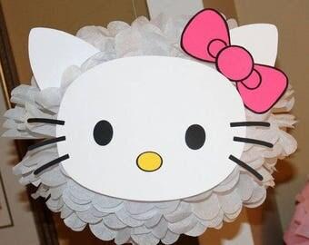 RESERVED LISTING  Hello Kitty pom pom cat baby shower first birthday party decoration