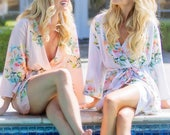 Premium Blush Dreamy Angel Song Bridesmaids Robes - Soft Rayon Fabric - Better Design - Perfect as getting ready robes
