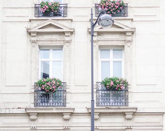 Paris Photograph   Windows On Paris, Travel Photography, Large Wall Art,  Neutral French
