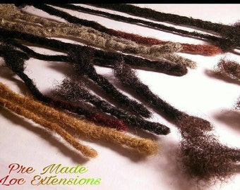 1 Pre Colored Afro Kinky Human Hair Dreadlock Extension