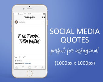5 Social Media Quotes - Instagram Graphic Quotes , Social Media Graphics, Social Media Marketing, Instagram Marketing, Motivational Quotes