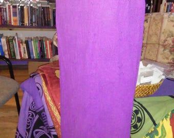 Purple Woven Cotton Straight Skirt- sk-090