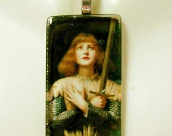 Saint Joan of Arc pendant with chain - GP01-174