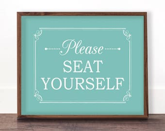 Funny Bathroom Art Please Seat Yourself Wall Art Bathroom