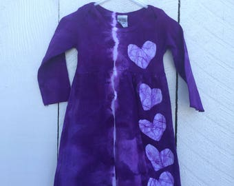 Toddler Girl's Dress, Purple Baby Dress, Purple Toddler Dress, Purple Girls Dress, Girls Easter Dress, Long Sleeve Girls Dress (12 months)