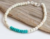 White Jasper & Turquoise Bracelet