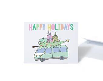 Holiday Card Set VW Christmas Tree