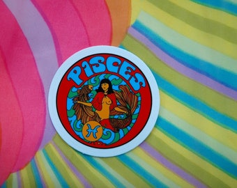 Pisces Sticker... 3 Inch Thick Vinyl Sticker... Zodiac Sticker