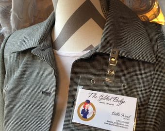 Employee Badge Sleeve and Clasp horizontal