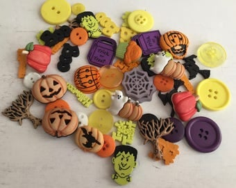 Halloween Buttons, Variety Value Package VBP319 by Buttons Galore, Assorted Shapes Sizes and Styles, Crafting, Sewing, Embellishments