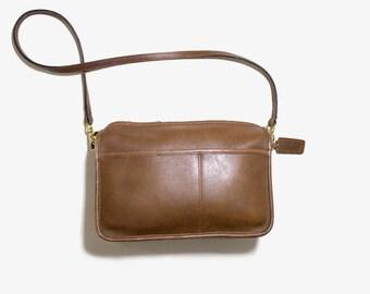 Vintage Coach Bag / Mini Coach Bag /  Brown Leather Coach Purse / NYC Coach