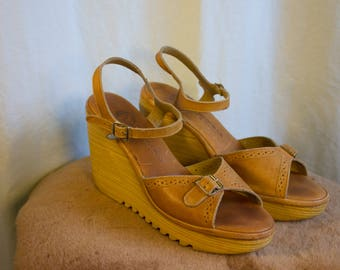 Leather Wedges - sz. 9