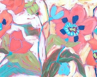 "Oriental Poppies - 12 x 48"""