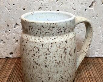 Rustic Mug - Handmade Stoneware Mug - Rustic Ceramic  Mug - Beige Mug - Beverage Mug - Beer Mug - Coffee Mug - Tea Mug - Speckle Mug