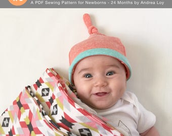 Knotted Gnome Baby Hat Newborn PDF Sewing Pattern