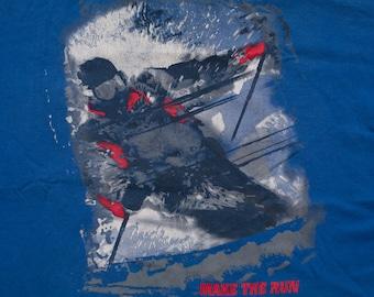 Make the Run Skiing T-Shirt, Marlboro Unlimited, Cigarettes, Vintage 90s, Extreme Skier Graphic Tee, Winter Ski Sport, Tobacciana