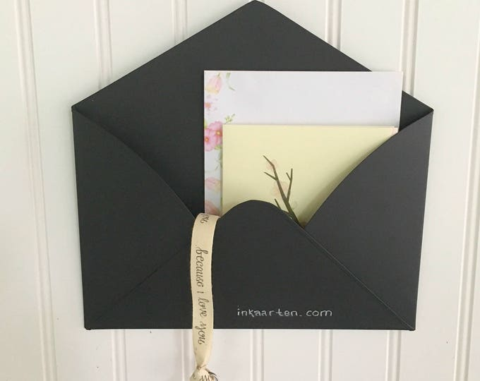Chalkboard Tin Envelope  Mail Holder