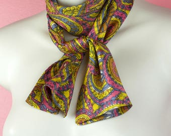60s/70s Psychedelic Paisley Print Multi-Purpose Scarf