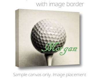 Personalized Golf Canvas-Golf Ball Print with Name-Custom Wall Art-Name Art-Sports Wall Decor-Fine Art Canvas Print-Girls/Boys Room Wall Art