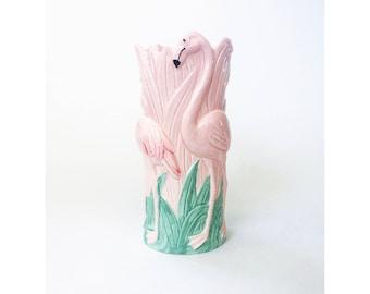 Vintage Pink Flamingo Vase