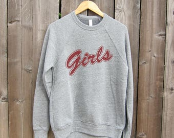 Girls, Feminist Sweatshirt, Girls Sweatshirt Friends, Unisex Fleece lined