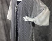 Black and cream gradient Kimono Cardigan O/S