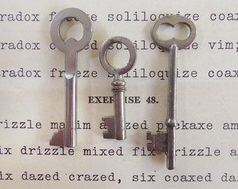 Three Old Skeleton Keys