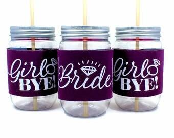 Bachelorette Cups,  Bachelorette Favors, Kiss the Miss, She said Yaaas, Bride Cup, Future Mrs, Vegas cups, hot pink, eggplant, coral, aqua
